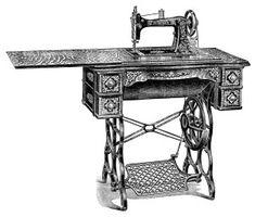 Free Vintage Image ~ Model B Minnesota Sewing Machine Clip Art