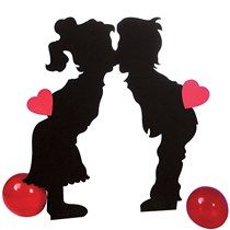 3 ft. 11 in. Kissing Kids Standee