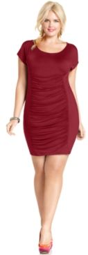 #Soprano                  #Plus Sizes               #Soprano #Plus #Size #Dress, #Short-Sleeve #Ruched  Soprano Plus Size Dress, Short-Sleeve Ruched                                  http://www.seapai.com/product.aspx?PID=5506209