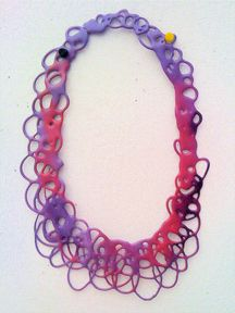 Clare Knox-Bentham-  UK Necklace EVA, lacquer, steel chain