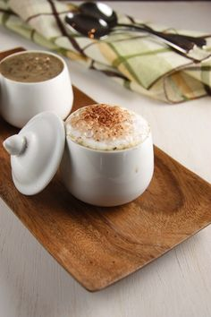 """Mushroom """"Cappuccino"""" Soup- This looks adorable! {Via A Communal Table}"""