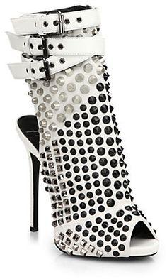 Giuseppe Zanotti Studded Platform Bootie Sandals on shopstyle.com
