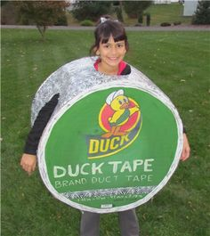 DIY Roll of Duck Tape Halloween Costume for kids or adults! #Funny #Creative #Big