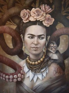 Frida Kahlo Artwork, Frida Kahlo Portraits, Kahlo Paintings, Frida Art, Canvas Artwork, Canvas Art Prints, Frida E Diego, Arte Latina, Magic Realism