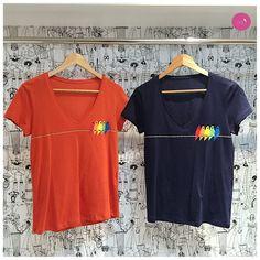 A azul foi um sucesso por aqui... e agora com vocês a t-shirt na cor coral!!! #Vemprazas