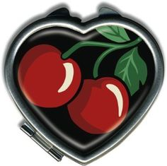 Cherries Heart Compact