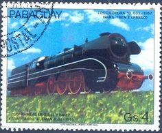 Stamp: Locomotive 10-002, 1957 (Paraguay) (150 years German railways) Mi:PY 3903