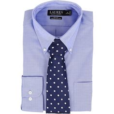 LAUREN Ralph Lauren Slim Fit Stretch Non Iron Pinpoint Button Down... ($45) ❤ liked on Polyvore featuring men's fashion, men's clothing, men's shirts, blue, mens blue dress shirt, mens dress shirts, mens button down dress shirts, mens slim fit dress shirts and mens button up dress shirts