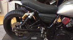 Suzuki gsx 750 inazuma cafe racer motokouture exhaust - YouTube