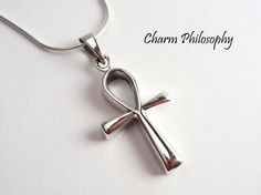 This ankh cross necklace, also known as the key of life, the key of the Nile or…
