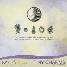CU Tiny Charms | CU/Commercial Use #digital #scrapbook design tools at CUDigitals.com #digitalscrapbooking