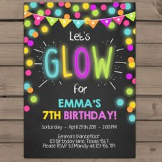 Party: Glow Party Invitations Is The Best Theme To Forge Your Chic Party Invitations 15