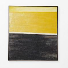 I don't usually like abstract art all that  much but something about this I just love! Yellow Abstract Wall Art from west elm