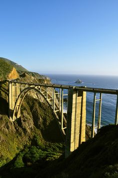 Bixby Bridge, Big Sur, California. We just visited here