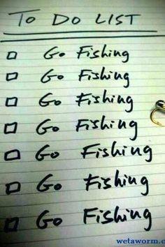 Fishing checklist