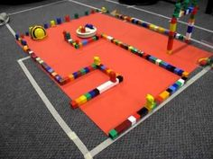 """Make a track with cubes & program the Bee-Bot to move accurately around it ("""",) sparks the idea that we could do with RC cars Early Years Maths, Early Years Classroom, Play Based Learning, Kids Learning, Early Learning, Reception Class, Maths Area, Eyfs Classroom, Computational Thinking"""