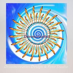 Mandala Waterwave Surfen op de golven vereist oefening inconcentratie en evenwicht en overwicht.De waterwave in deze mandalastaat symbool voorhet toppunt van prestatie. Op het hoogtepunt is het kopje onder gaanof eenoverwinning vieren. Oefening baart kunst, …
