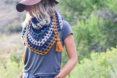 The Revival Crochet Triangle Scarf - Free Pattern and Video Tutorial!