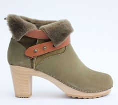 Abilene shearling boot in evergreen. www.bryrstudio.com
