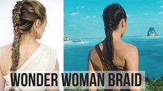 Here's a hair tutorial on Wonder Woman's braid in the new 2017 movie! I looked at SO MANY PICS to figure this hairstyle out. I really think this is it, and I...