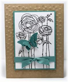 I struggle with backgrounds. Embossing is an easy way to add interest. Scrappin' and Stampin' in GJ (Mar'16)