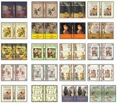 mini book covers- printables!