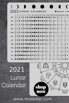 Add the moon cycle to your bullet journal layouts. This 2021 Lunar Calendar is just what you need for setting intentions and working on goals. #bulletjournal #lunarcalendar #mooncycle