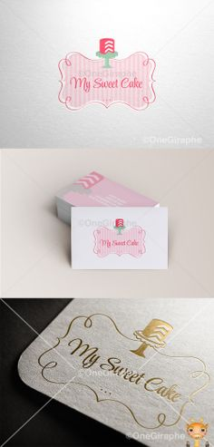 Branding for Cake, Cupcake & Bakery for sale! Logo ( color variations and…
