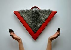 T r i a n g u l u m  ▾ I got the heart and you got the blood #fur #leatherbag #indee_design