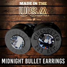 Our best selling bullet earrings are now available in midnight black with several different Swarovski gem colors. Visit offroadpowergear.com