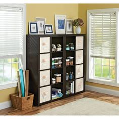 Better Homes and Gardens 16-Cube Organizer and Room Divider, Multiple Colors - great for the new studio space when it happens