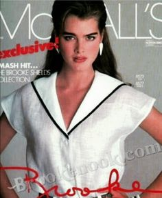 Brooke Shields covers McCall's Patterns 1983 Photo by Patrick Demarchelier