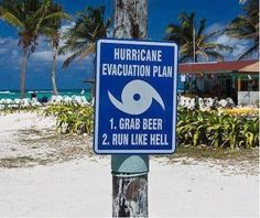 Hurricane evacuation plan