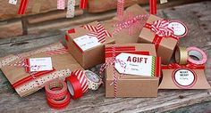 If you've never used washi tape, the holidays are the perfect time. These 15 Christmas washi tape craft ideas are perfect for gifts and home decor. Creative Gift Wrapping, Wrapping Ideas, Creative Gifts, Paper Wrapping, Wrapping Gifts, Noel Christmas, Christmas Crafts, Italy Christmas, Christmas Ideas