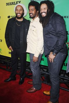 Bob Marleys sons and Snoop Dogg attend premiere of Marley
