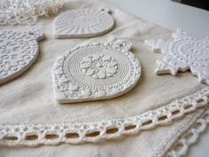 beautiful hand made clay decorations