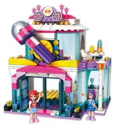 Enlighten toy for children blocks Compatible Legoeds friends city girl Star dream KTV DIY figures Bricks Educational Toys Price: Lego Friends, Toys For Girls, Kids Toys, Kids Girls, Colourful Buildings, Brick Block, Birthday Gifts For Girls, Toy Trucks, City Girl