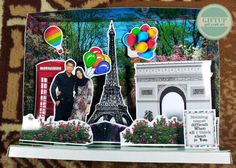 Popupbox with paris theme. Just tryin to make pop up craft. #popup #scrapframe #craft