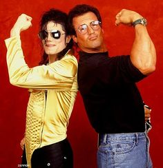 MJ and Silvester Stallone