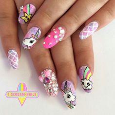 Resultado de imagen para decoracion de uñas unicornio