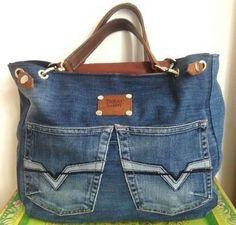 Only Jeans, Diy Sac, Jean Purses, Denim Purse, Diy Handbag, Recycled Denim, Handmade Bags, Purses And Handbags, Nice