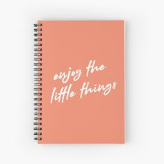 Little Things, Things To Come, Design Quotes, Creative Design, Positive Quotes, Spiral, Motivational, Notebook, Positivity