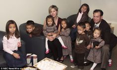 Kate Goselyn and x husband and 8 children.