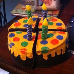 Felt birthday cake