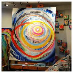 In the studio today working on this big piece. 6 ft x 5 ft oil painting on canvas. I love my morning painting sessions. It is definitely one of the highlights of my day. Come hang out weekday mornings on #periscope we have a lot of fun, a supportive community, and some priceless conversations.