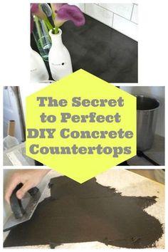 Concrete Countertops Bathroom, Diy Countertops, Updated Kitchen, Diy Kitchen, Kitchen Ideas, Concrete Projects, Diy Projects, Decorating Ideas, Decor Ideas