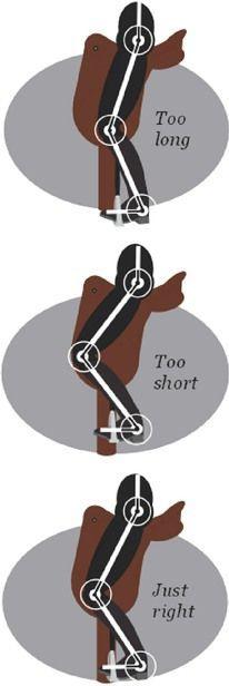 Horse Rider's Mechanic article Stirrup length think I've got mine just right