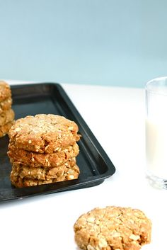:: enjoy ANZAC cookies with a glass of milk ::