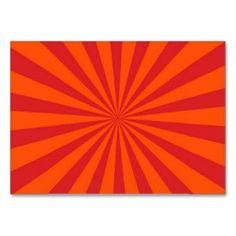 Orange Sun Burst Sun Rays Pattern Business Card
