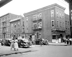 361 Livonia Avenue next to the el in Brownsville, Brooklyn, circa 1951, was destined to become part of the 22 acre site cleared to build the 1955 Van Dyke Houses, completed May 31, 1955, and bordered by Mother Gaston Boulevard, Powell Street, Sutter and Livonia Avenues.